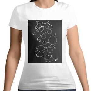 Dream world-Women 's Cotton Round Neck T - shirt