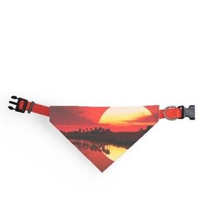 超美日升照的三角圍巾
