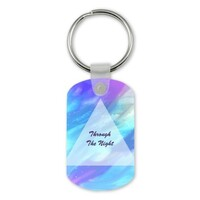 Through the Night Rectangle Keychain