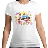 Japan Culture Women 's Cotton Round Neck T - shirt