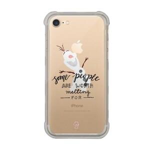 iPhone 7 Transparent Bumper Case - Olaf