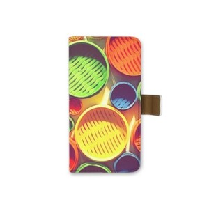 Colourful circle pattern iPhone 6/6s Leather Case