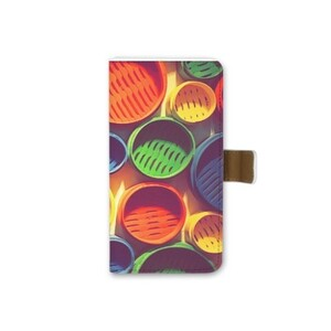 Colourful circle pattern iPhone 7 Leather Case