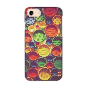 Colourful circle pattern iPhone 7 Matte Case