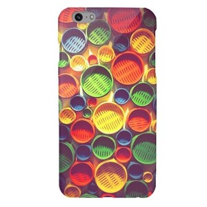Colourful circle pattern iPhone 6/6s Plus Glossy Case