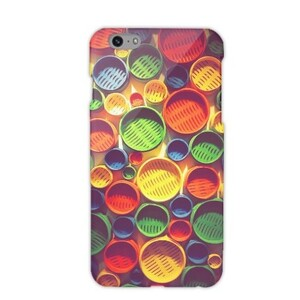 Colourful circle pattern iPhone 6/6s Glossy Case