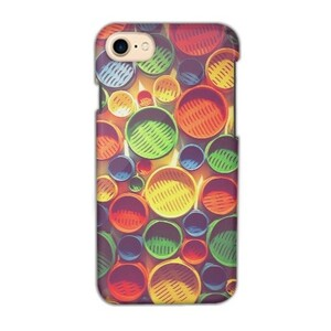Colourful circle pattern iPhone 7 Glossy Case