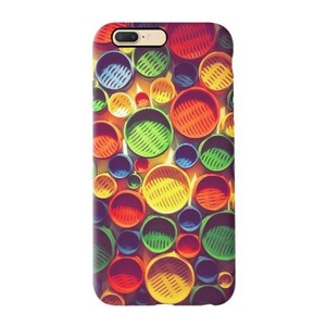 Colourful circle pattern iPhone 7 Plus TPU Dual Layer Protective Case