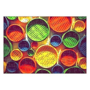 Colourful circle pattern Rectangle Puzzle (120 Pieces)