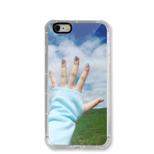 Touch the sky iPhone 6/6s Transparent Bumper Case