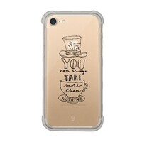 iPhone 7 Transparent Bumper Case - Mad Hatter