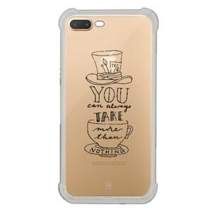 iPhone 7 Plus Transparent Bumper Case - Mad Hatter