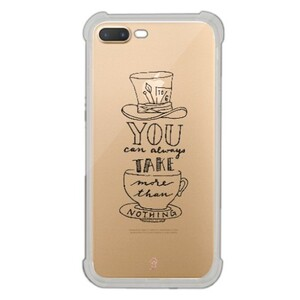 iPhone 7 Plus Transparent Bumper Case - Mad Hatter