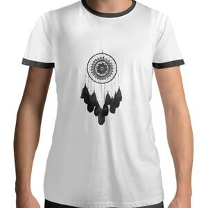 dreamcatcher Men 's Cotton Black Round Neck T - shirt