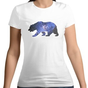 Bear- Women 's Cotton Round Neck T - shirt