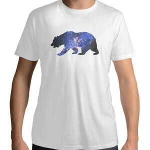Bear- Men 's Cotton Round Neck T - shirt
