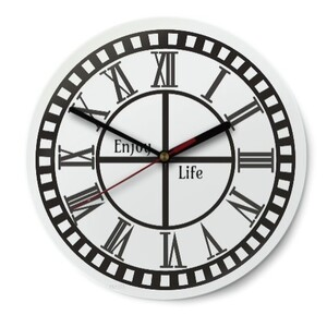 Round Glass Wall Clock (Gloss Surface)