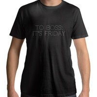 T - shirt (male)(to boss: it's friday)