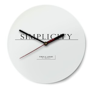 SIMPLICITY Round Glass Wall Clock (Gloss Surface)