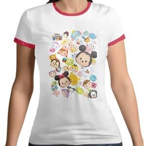 TsumTsum Women 's Cotton Color Round Neck T - shirt