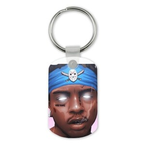 Rectangle SKI MASK THE SLUMP GOD Keychain