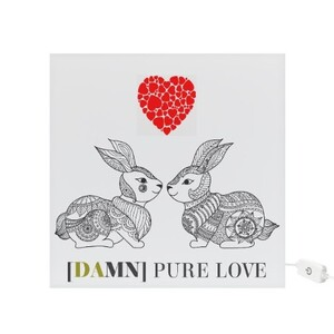 """DAMN PURE LOVE"" Square Light Box"