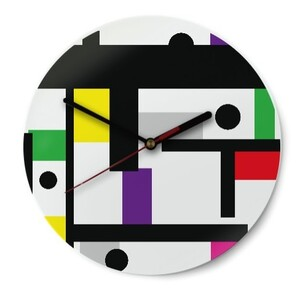 pop office Round Glass Wall Clock (Gloss Surface)