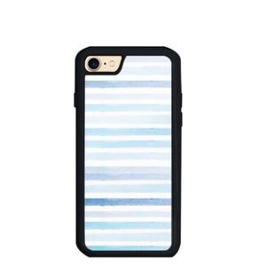 blue stripes iPhone 7 TPU Dual Layer  Bumper Case
