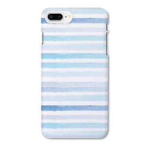 blue stripes iPhone 8 Plus Glossy Case