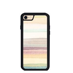 warm stripes iPhone 7 TPU Dual Layer  Bumper Case
