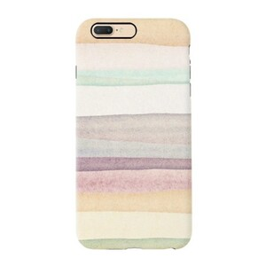 warm stripes iPhone 7 Plus TPU Dual Layer Protective Case