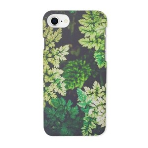 deep summer leaves iPhone 8 Glossy Case