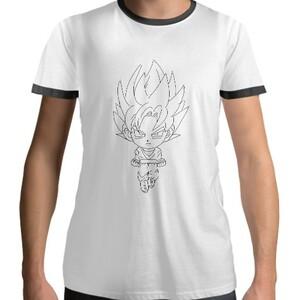 男裝棉質黑色圓領T恤