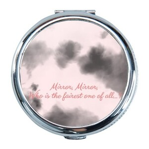 """Snow White Magic Mirror"" Round Compact Mirror (Small)"