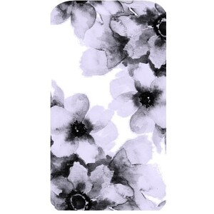 """""""Purple Floral"""" iPhone 7 Glossy Case"""