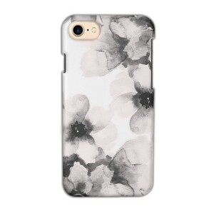 """""""Light Pink Floral"""" iPhone 7 Glossy Case"""