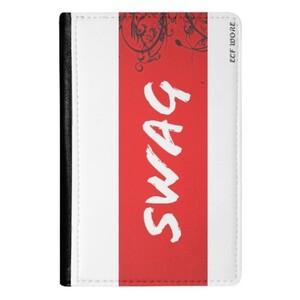 White Red SWAG Passport Holder