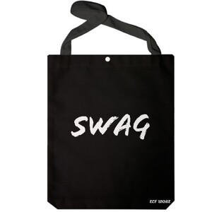Black Jumbo White SWAG Tote Bag