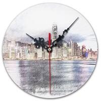 SketchHongKong_Victoria Harbour Round Wall Clock