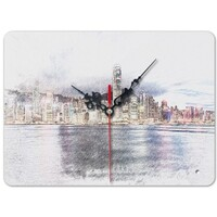 SketchHongKong_Victoria Harbour Rectangle Wall Clock