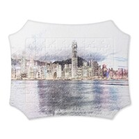 SketchHongKong_Victoria Harbour Self-Stand Jigsaw Puzzle(63 Pieces)