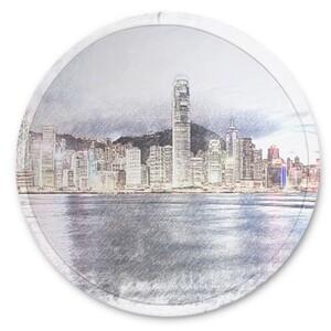 SketchHongKong_Victoria Harbour Beach Frisbee