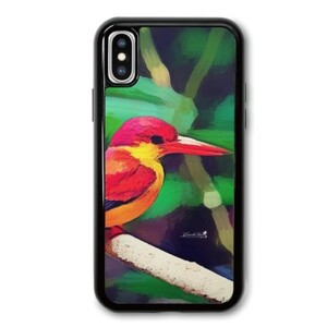 三趾翠鳥 iPhone X TPU Dual Layer  Bumper Case