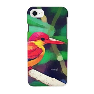 三趾翠鳥 iPhone 8 Glossy Case