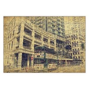 SketchHongKong_Wan Chai Rectangle Puzzle (120 Pieces)