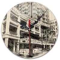 SketchHongKong_Wan Chai Round Wall Clock