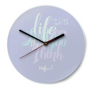Duffissoocool Round Glass Wall Clock (Gloss Surface)