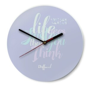 Duffissoocool Round Glass Wall Clock (Gloss Surface)