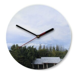 Duffissocool Round Glass Wall Clock (Gloss Surface)
