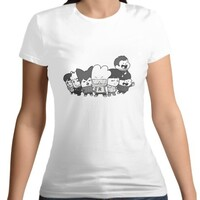 HIP HOP MONSTER - Women 's Cotton Round Neck T - shirt